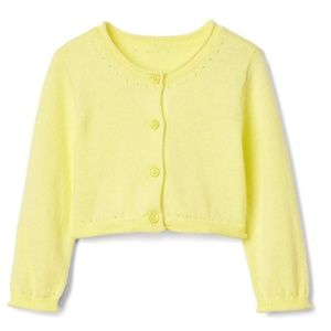 *5 FOR $30* Gap || Yellow Button Crew Cardigan